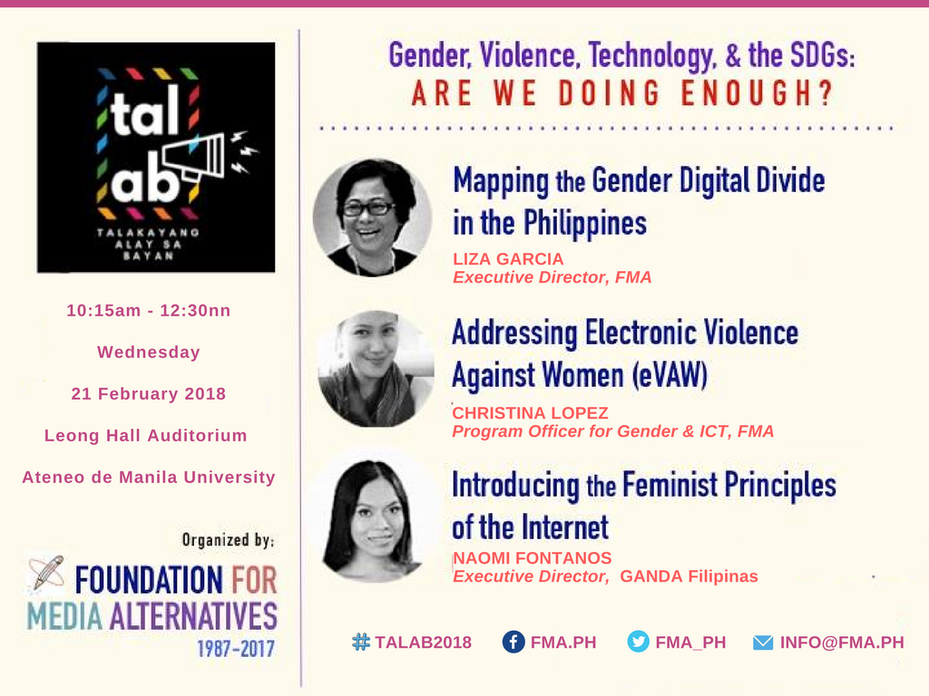 Gender, Violence, Technology and the SDGs: Are we doing enough? |  Foundation for Media Alternatives